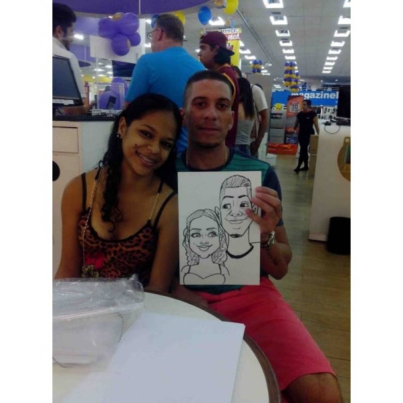 Caricatura ao Vivo em Festa de Aniversario Preço Mandaqui - Caricaturas ao Vivo em Caneca para Festas Corporativas
