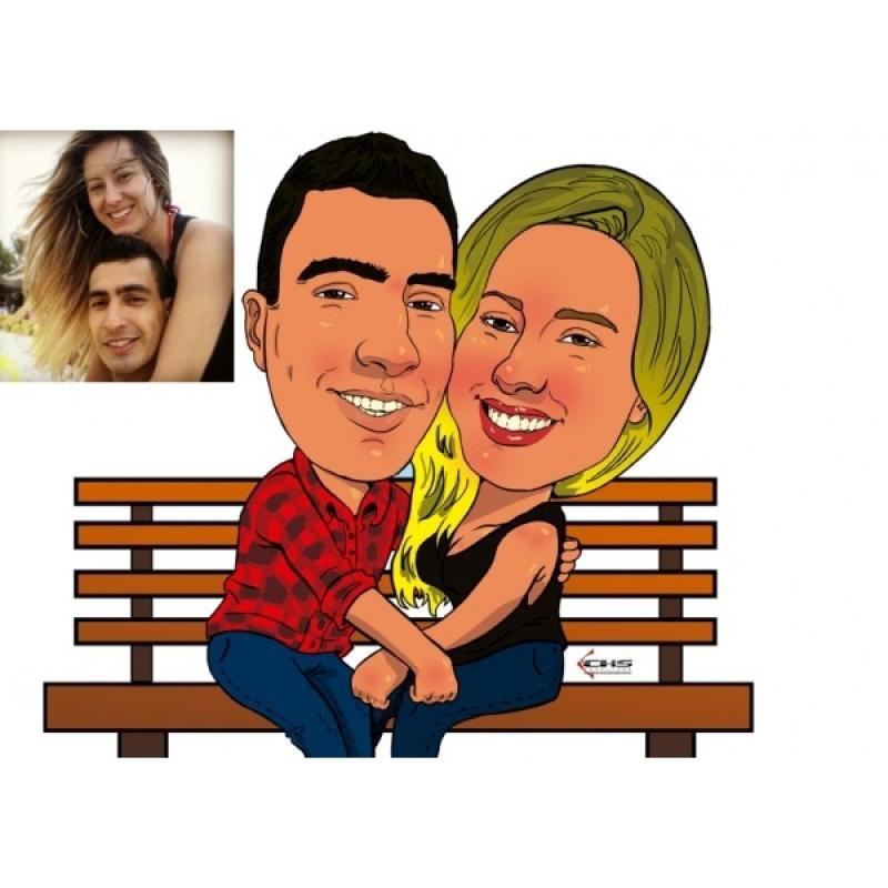 Caricatura em Caneca para Casamento Sé - Caricatura para Casamento