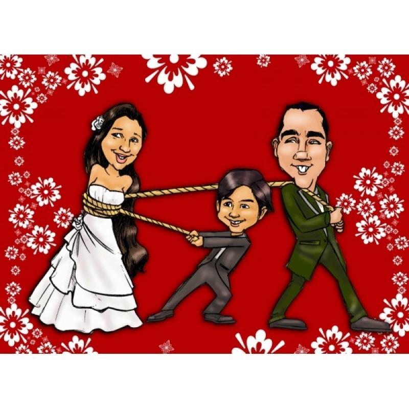Caricatura em Casamento Preço Vila Sônia - Caricatura para Formatura