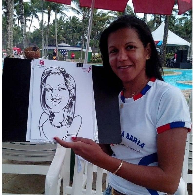 Caricatura em Papel para Evento Vila Buarque - Caricaturista para Eventos