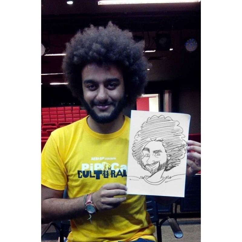 Caricatura para Eventos Bixiga - Caricatura em Caneca