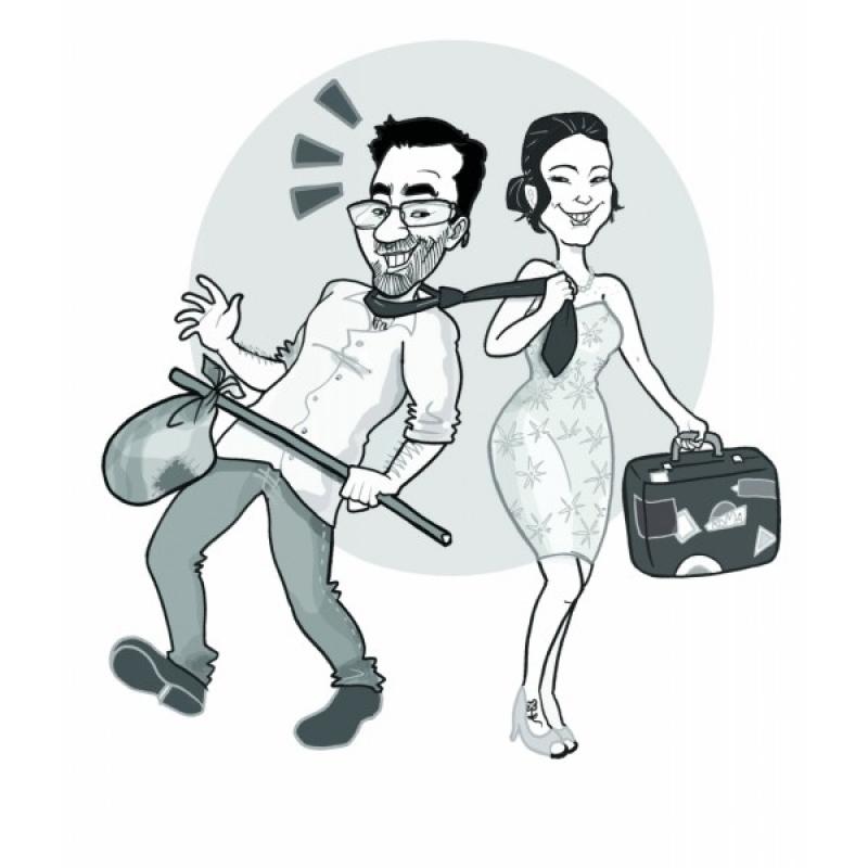 Caricatura para Festa de Casamento Higienópolis - Caricatura para Casamento