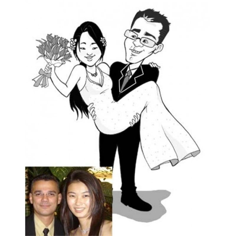 Caricaturas em Canecas de Porcelana para Casamentos Morumbi - Caricatura para Casamento