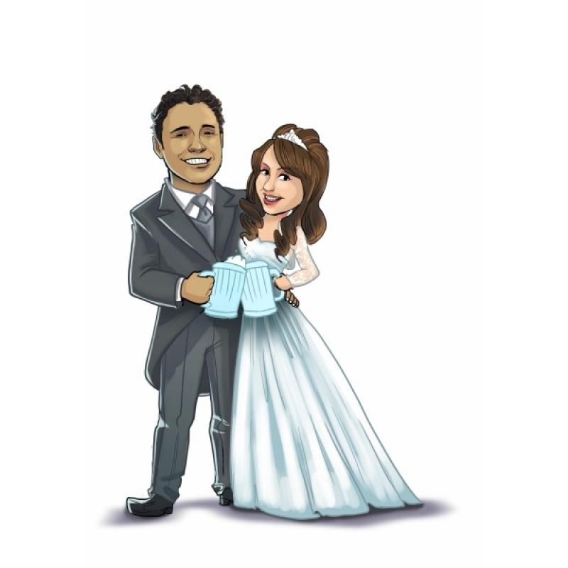 Caricaturas para Festas de Casamento Liberdade - Caricatura para Casamento