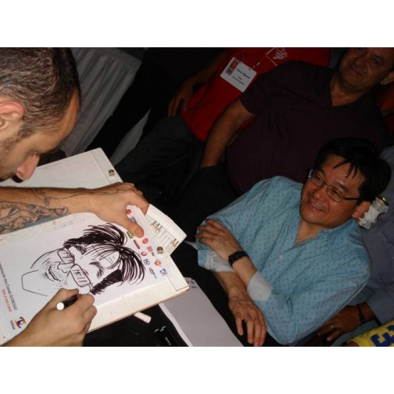 Caricaturista para Evento Empresarial Glicério - Caricaturas em Camisetas para Eventos