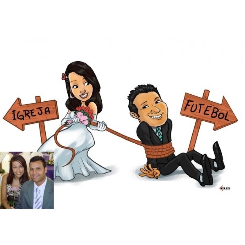 Empresa de Caricatura em Camiseta para Casamento Jaguaré - Caricaturistas ao Vivo para Casamento