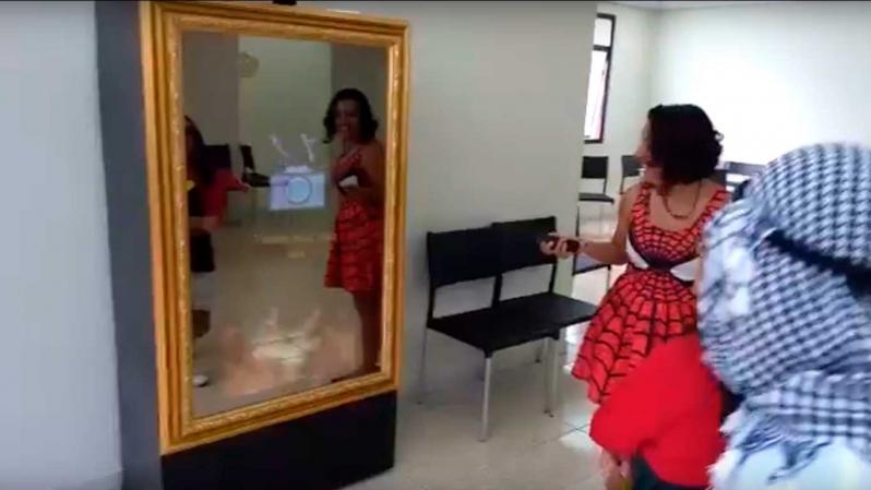Espelho Mágico Cabine Mooca - Espelho Mágico para Eventos