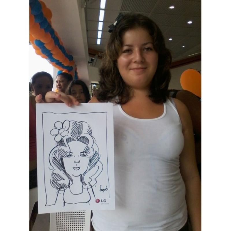 Onde Encontro Caricatura Feminina São Bernardo do Campo - Caricatura para Formatura