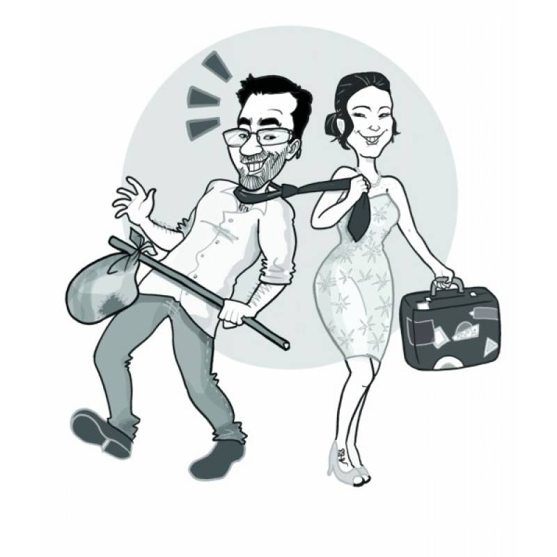 Profissional de Caricaturas para Casamentos Granja Viana - Caricatura Impressa para Casamento