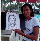 caricatura em papel para evento Jabaquara
