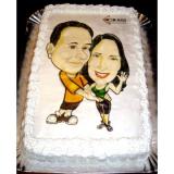 caricatura em caneca para casamento